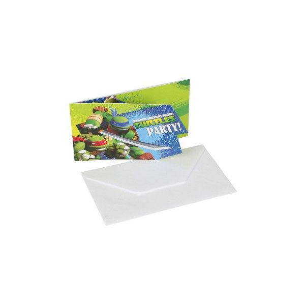 T1142244-Einladungskarten-Ninja-Turtles-8-Stueck