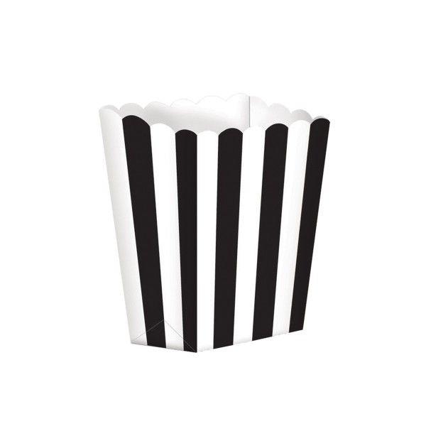 Popcorntüten, schwarz/weiß, 5 Stück