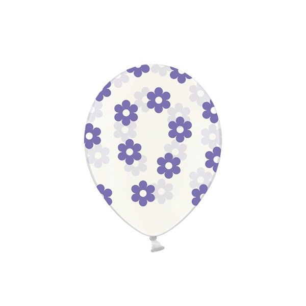 T1142523-Luftballons-Blumen-lila-6-Stueck