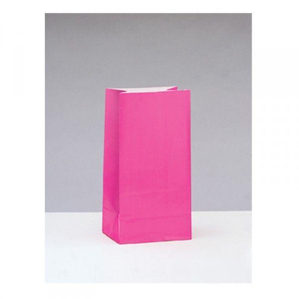 Partytüten aus Papier pink, 12 Stück