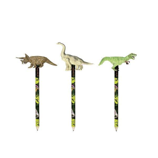 Bleistift Dinosaurier mit Topper T-Rex, 1 Stück