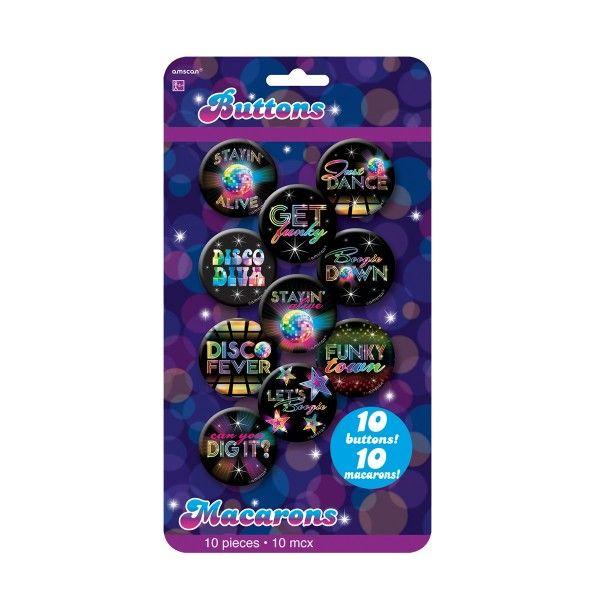 Buttons Disco, 10 Stück X