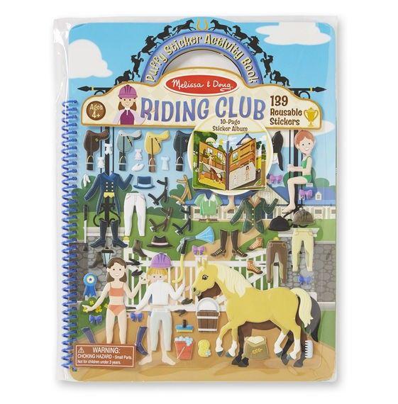 Polster-Sticker Activity-Book Pferd und Reiterhof