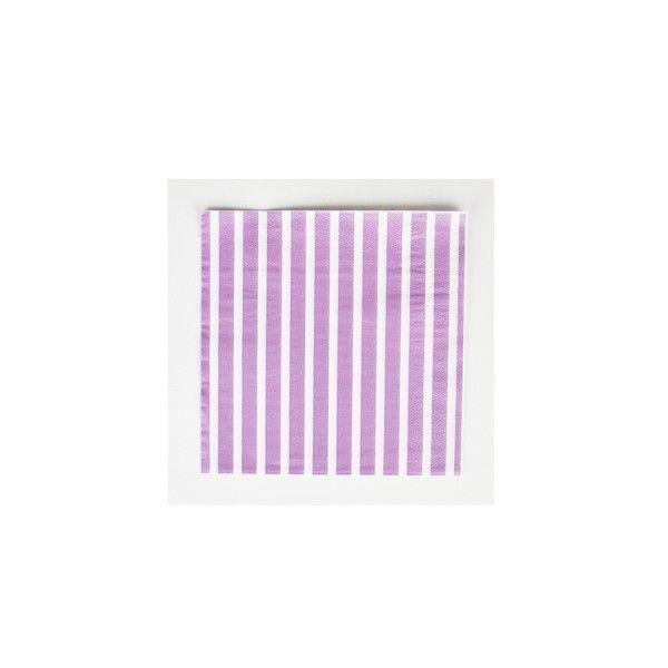 Servietten-lila-Streifen