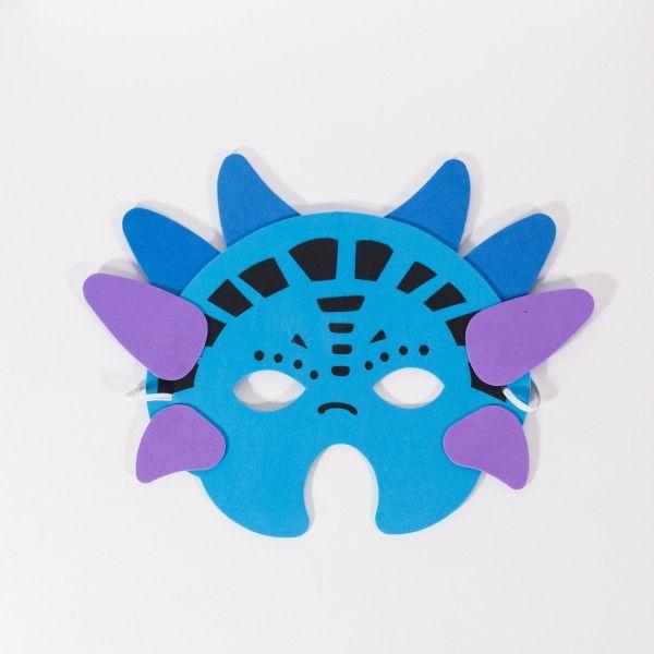 Moosgummi-Masken Ritter & Drache, 6 Stück X