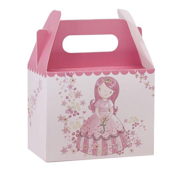 Geschenkboxen Prinzessin, 10x15x20cm, 5 Stück