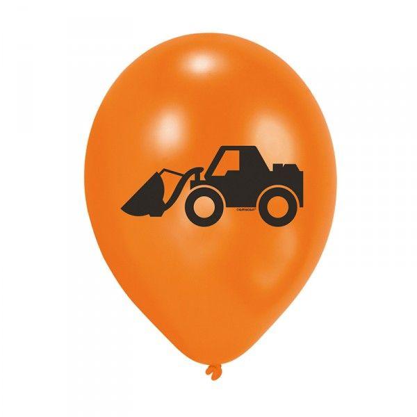 Luftballons Baustelle, 6 Stück X