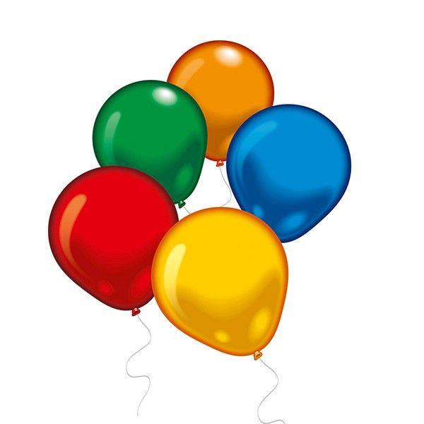 Runde Luftballons, 100 Stück
