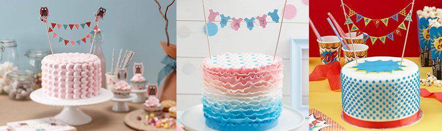 Ob Gugelhupf oder Fantakuchen - Kuchengirlanden verwandeln jedes Gebäck in einen schicken Geburtstagskuchen.