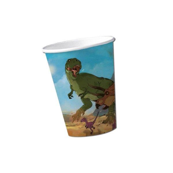 Pappbecher Dino, 200ml, 8 Stück