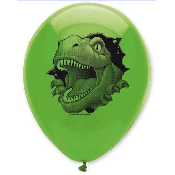 Luftballons Dino Alarm, 6 Stück