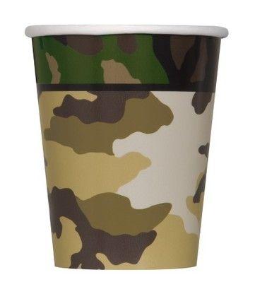 Pappbecher Camouflage, 270 ml