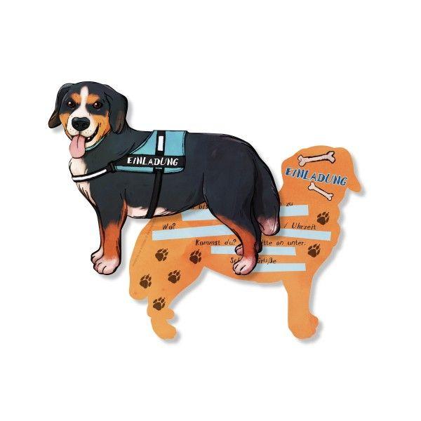 Einladungskarten Hunde, 6 St