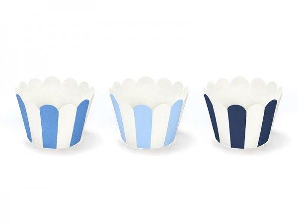 Deko-Banderolen für Muffins & Cupcakes, Über den Wolken, 6 Stück