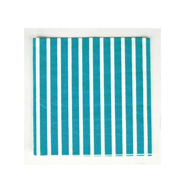 Servietten-Streifen-blau-33cm-20-Stueck-neu