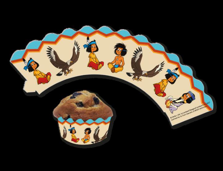 Deko-Banderolen für Muffins und Cupcakes Yakari, 12 Stück