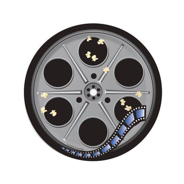 Pappteller Filmrolle,  17,8cm, 8 St